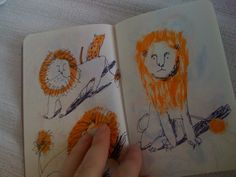 by Irina Troitskaya, #sketchbook #lion