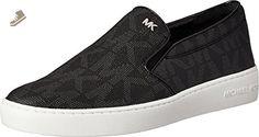MICHAEL Michael Kors Women's Keaton Slip-On Black MK Sig PVC Sneaker 6.5 M - Michael kors sneakers for women (*Amazon Partner-Link)
