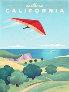 Vintage Travel Poster, Northern California by Martin Wickstrom Northern California Travel, Star Lanterns, United States Travel, Vintage Travel Posters, See Photo, Travel Usa, Art Decor, Vintage Outfits, Things To Come