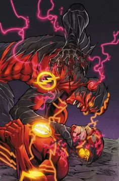 Stuck between a rock and an electric, insane villian version of yourself. #heroproblems