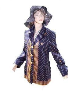 Ein Traum von Escada seidig in blau Gold Gr 40 (8390) Willkommen im  www.Chelsea-Fashion-Glamur.de  Shop Secondhand und Neuware Mode zu günstigen Preisen   Dies und Das für jeden was.....