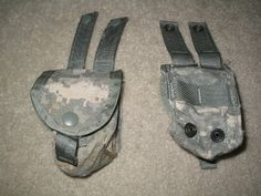 LOT OF 4 = US MILITARY ISSUE ACU GRENADE POUCHES NSN 8465-01-525-0589 (USED)