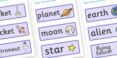 Space Ship Role Play Word Cards - Space Ship Role Play Pack, space, Word cards, Word Card, flashcard, flashcards, rocket, space ship, alien, moon, astronaut, space log, stars, planets, role play, display, poster