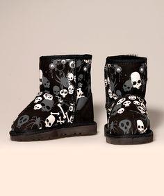 The Original NZ Black #Skull & Bones #Boot on zulily today!