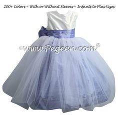 fcf9f06d18e Toddler Flower Girl Dresses Antique White and Lilac Sash and Skirt  Periwinkle Wedding