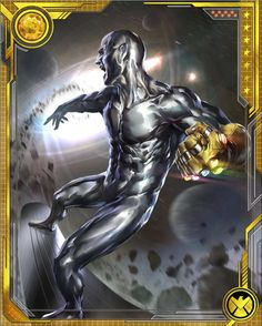 The Silver Surfer's years as Herald of Galactus familiarized him with the consequences of great power wielded for selfish interest. When he had a chance to achieve such power himself, he swore to use it for good. Marvel Comics Art, Marvel Comic Books, Marvel Vs, Comic Book Heroes, Marvel Heroes, Comic Books Art, Captain Marvel, Comic Art, Marvel Comic Character