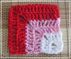 Simple motif for plaid knitting with a corner