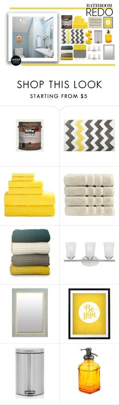 """Zig Zag"" by kleinwillwin ❤ liked on Polyvore featuring interior, interiors, interior design, home, home decor, interior decorating, InterDesign, Christy, Universal Lighting and Decor and WALL"
