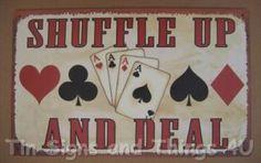 man cave gamble, Nestor Johnson Mfg mad men card game Card shuffler vintage game poker night
