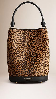 Camel The Bucket Bag in Animal Print Calfskin - Added to 2016 Wish List for Boston Trip
