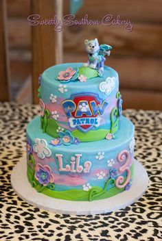 Paw Patrol cake, Everest cake