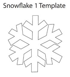 Simple snowflake template. Might make ten and string them on a festive garland