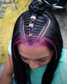 # Braids step by step life Back To School Hairstyles Short, Straight Hairstyles, Weave Ponytail Hairstyles, Baddie Hairstyles, Afro Braids, Box Braids, Natural Hair Tips, Natural Hair Styles, Heartless Curls