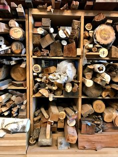 A small portion of all the wood we've received from customers over the years.