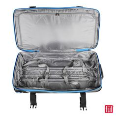 b610af426b39 FUL Model 62112 Rolling Duffel Grey with Blue Accent. 30 Inch Rolling Duffel.  www