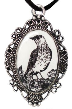 Inked Boutique - Bird Cameo Necklace Victorian Frame Vintage Inspired http://www.inkedboutique.com