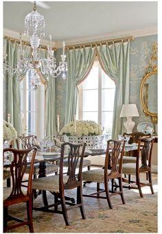 mary mcdonalk - dark blue dining w/wood tones   noel   pinterest