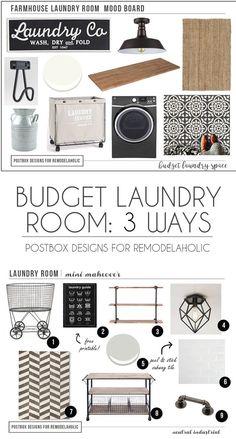 Postbox Designs Interior E-Design for Remodelaholic: Budget Farmhouse Laundry Room Makeover, online interior design