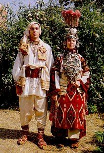 Krivareka bridal costume from the village of Stracin, Kumanovo region, Macedonia