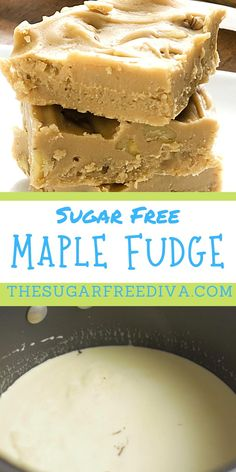 YUMMY recipe for a great tasting dessert recipe idea! Sugar Free maple fudge is the perfect treat for desserts, holidays, snacks, and celebrations. Fudge Recipes, Cheesecake Recipes, Chocolate Recipes, Baking Recipes, Snack Recipes, Dessert Recipes, Snacks, Kitchen Recipes, Breakfast Recipes