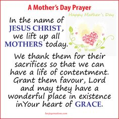 May mothers today all over the world feel in their heart the joys of being called a mother and in all their goodness and all their failings, be blessed!