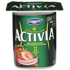 Dannon Activia Yogurt, calcium 10%, 110 calories per 1 container (100g)