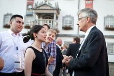 LWF Gen. Sec. Rev. Dr. Martin Junge chatting with young reformers in Wittenberg. #Day348 til the LWF Twelfth Assembly. #Assembly365 #lwfassembly #Lutheran #Church #People #faith