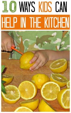 Teach kids practical skills and get them helping in the kitchen.