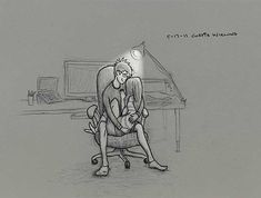 Este artista quiso demostrar su amor por su esposa con estas ilustraciones: O esas noches largas.