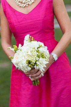 Pink and Green Country Club Wedding in South Carolina Country Club Wedding, Rustic Wedding, Wedding Blog, Destination Wedding, Wedding Ideas, Watermelon Wedding, Bridesmaid Bouquet, Bridesmaid Dresses, Hot Pink Weddings