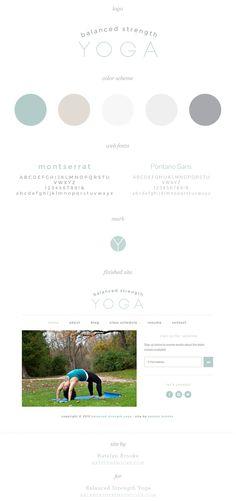 Balanced Strength Yoga, branding and site design by Katelyn Brooke || katelynbrooke.com