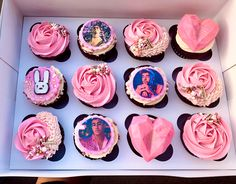 25th Birthday Parties, Birthday Goals, Birthday Party Decorations, Bunny Cupcakes, Cupcake Cookies, Bunny Birthday, Birthday Diy, Strawberry Buttercream Frosting, Elegant Cupcakes
