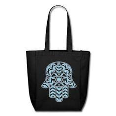 hamsa clothing plus size | Hand of Miriam / Hamsa Tote Bag | Spreadshirt | ID: 3796947