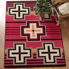 awesome Bounty Red Southwestern Rug - 4 x 5