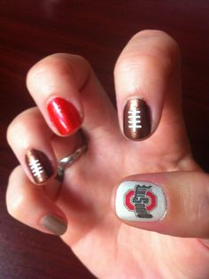 Ohio State nails - set for the game this weekend!
