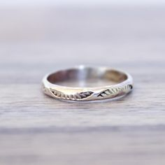 Silver Hand Carved Navajo Ring