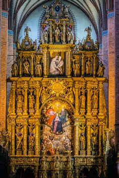 The altar of the Cathedral Basilica of the Assumption of the Blessed Virgin Mary in Pelplin, Poland