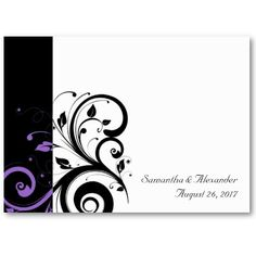 Image detail for -... reverse swirl wedding invitation with bold graphic swirl scroll leaf