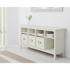 IKEA HEMNES Sofa table, white stain ($199) ❤ liked on Polyvore featuring home, furniture, tables and accent tables