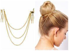Goedkope-fijne Vintage Haaraccessoires Dubbele Gouden Ketting Met Blad Kam Hoofd Nieuwe Hoofdbanden Voor Vrouwen Meisje Lady