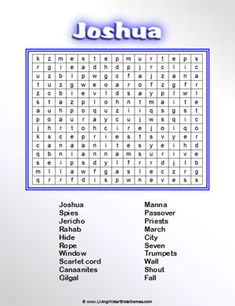 Joshua and the Battle of Jericho -- Bible Word Search