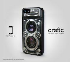 Vintage Camera Silver Lens iPhone 5 Case, Retro iPhone 4 Case, iPhone 4S Case