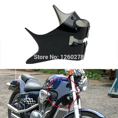 43.88$  Watch here - http://ali18g.worldwells.pw/go.php?t=32420458094 - Motorcycle ABS Plastic Frame Neck Cover Cowl For Honda Shadow VT600 VLX 600 STEED400 Black 43.88$