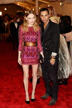 Kate Bosworth in Balmain & Olivier Rousteing at the Met Gala
