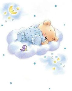 Good Night sister,and all have a restful sleep. Bear Pictures, Cute Pictures, Lapin Art, Baby Images, Cute Teddy Bears, Tatty Teddy, Bear Art, Cute Illustration, Baby Cards