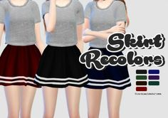 Rinvalee: Skirt Recolors • Sims 4 Downloads
