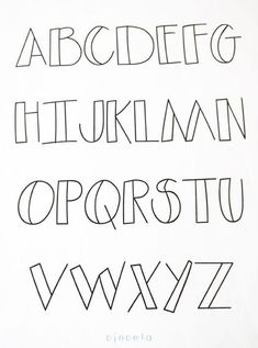 7 ideas de abecedario en letra bonita — Craftingeek Hand Lettering Alphabet, Doodle Lettering, Creative Lettering, Lettering Styles, Bullet Journal Fonts Hand Lettering, Cute Fonts Alphabet, Block Letter Alphabet, Abc Font, Decorative Lettering