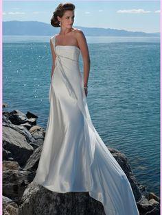 13a2c928ac35a wedding dresses beach wedding dresses wedding dresses lace mermaid empire  one shoulder court trains sleeveless taffeta beach wedding dress for brides