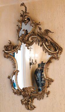 19th century George II giltwood mirror