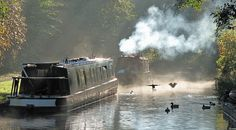 Early morning canal scene